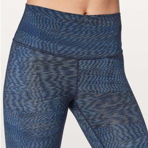 Lululemon Wunder Under Hi-Rise Linear Battleship